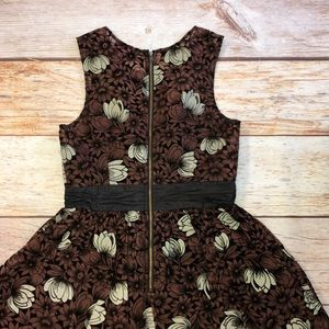 Anthropologie Dresses - Frock by Tracy Reece Brown/black/white floral Sz 4